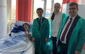 Büyükelçi Ertaş, Doğan'ı hastanede ziyaret etti