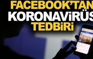 Facebook'tan, koronavirüs tedbiri!